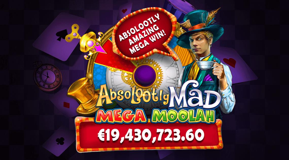 Mega Moolah recordjackpot: €19.430.723,60 op Absolootly Mad Mega Moolah