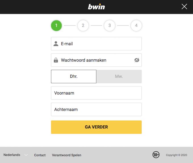 Bwin registratie