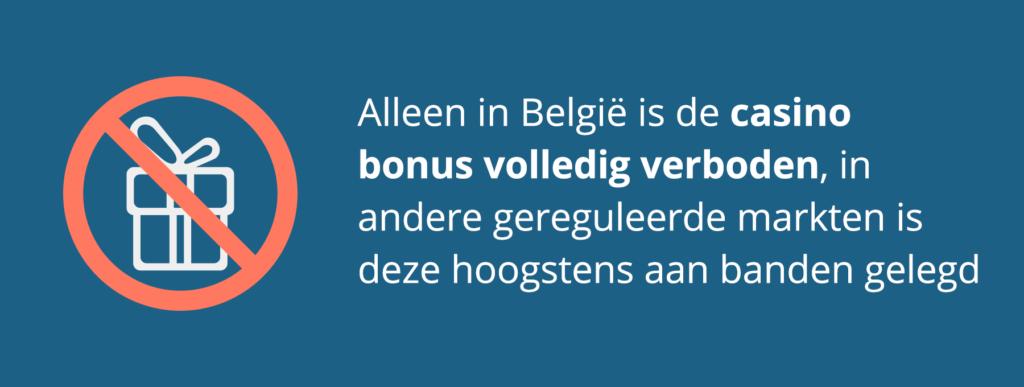 De casino bonus: alleen in België volledig in de ban!