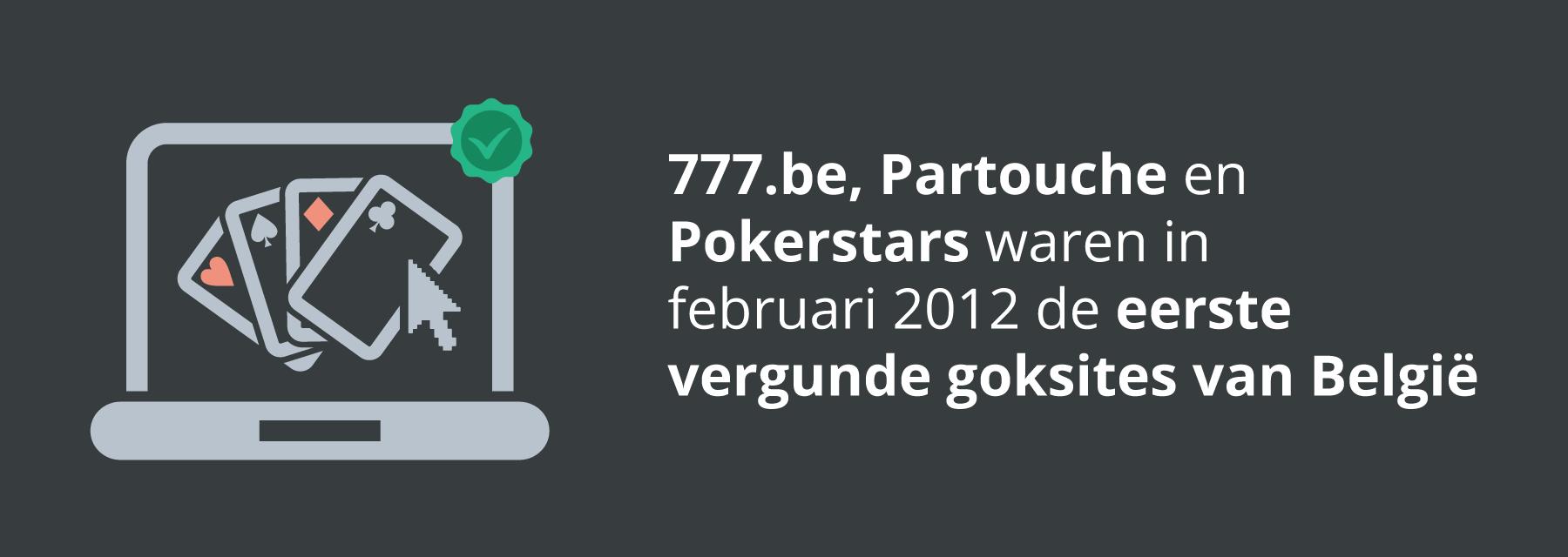 De eerste legale goksites van België