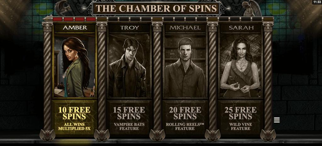 Chambers of Spins bonus: activeer de free spins keer op keer opnieuw voor betere features