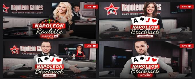 Live casino Napoleon Games