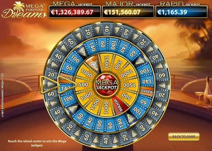 Mega Fortune Dreams bonusrad