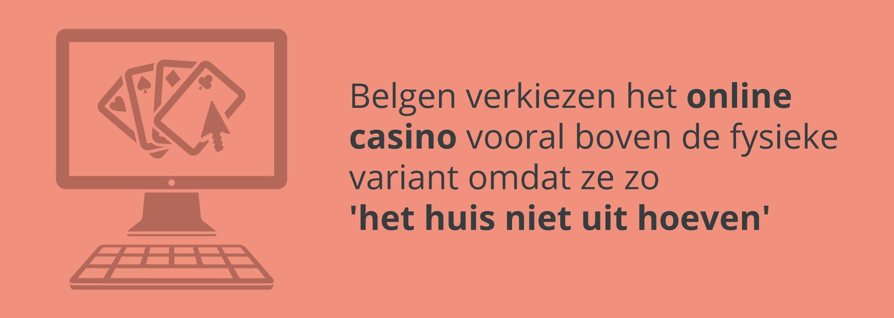 Waarom Belgen een online casino verkiezen boven een fysiek casino