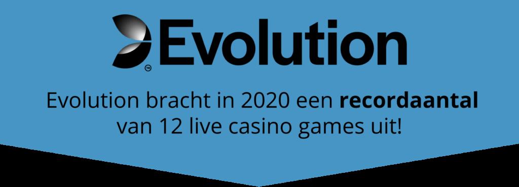 Recordaantal live casino games voor Evolution in 2020