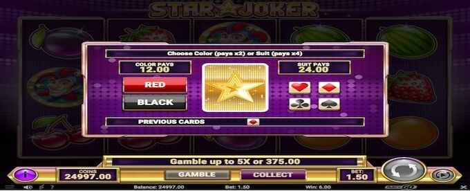 Star Joker gamble feature