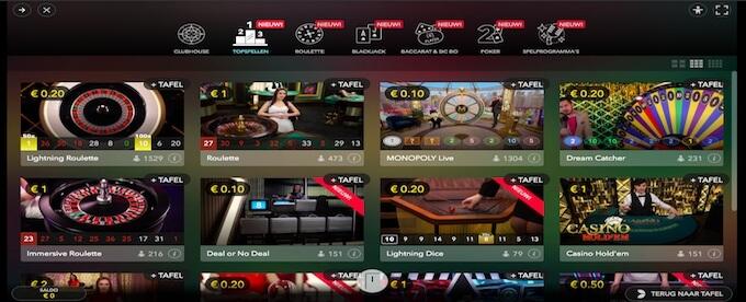 StarCasino live casino