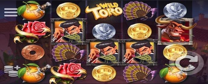 Wild Toro slot speelveld